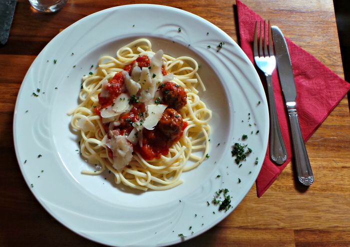 red lion spaghetti and meatballs