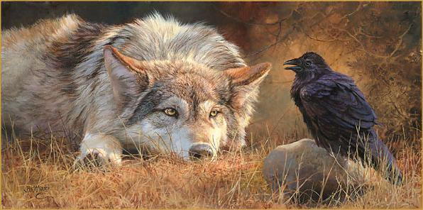 odin ravens and wolves relationship