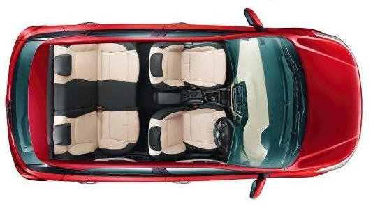 Hyundai Elite i20. Hyundai top view  pose