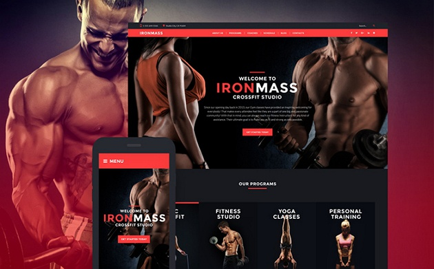 best sellers responsive gym website theme