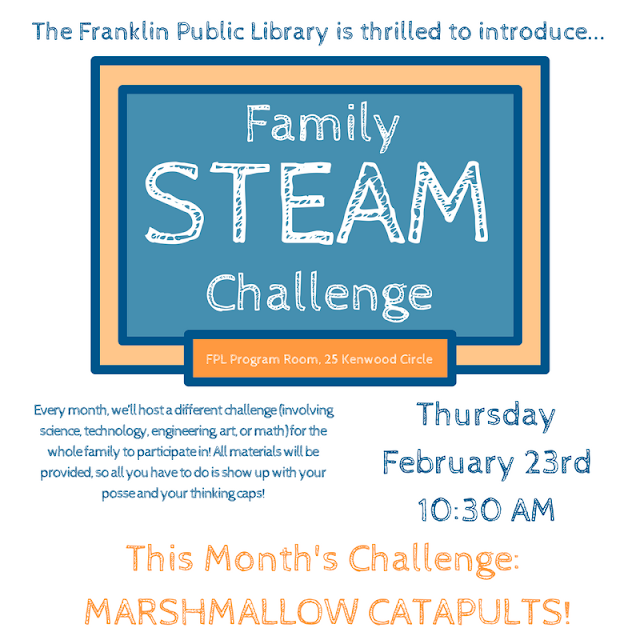 Family STEAM Challenge, Thursday, February 23, 10:30 a.m.