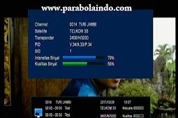 Frekuensi TVRI JAMBI Terbaru di Telkom 3S 118°E