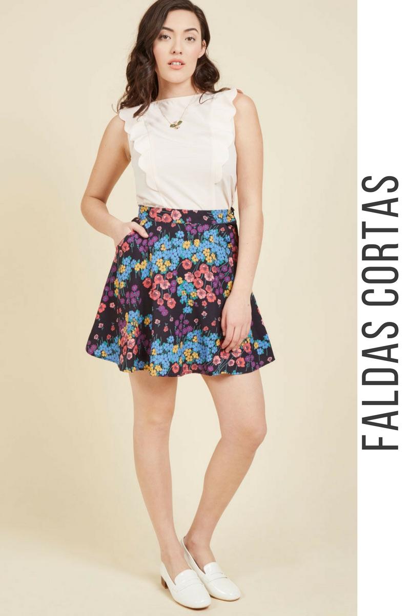 d9e468dc8 43 Modelos de Faldas Cortas que NO te Puedes Perder ¡Tendencias ...