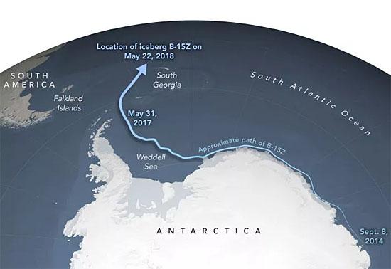 Rota Maior iceberg do mundo B-15