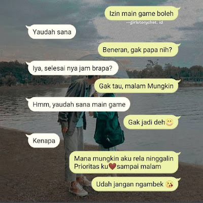 chat romantis wa