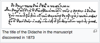 The Didache, also known as The Teaching of the Twelve Apostles.