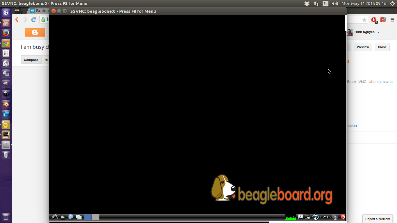 Setting up VNC remote desktop on my BeagleBone Black