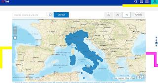 Mappa copertura Tim