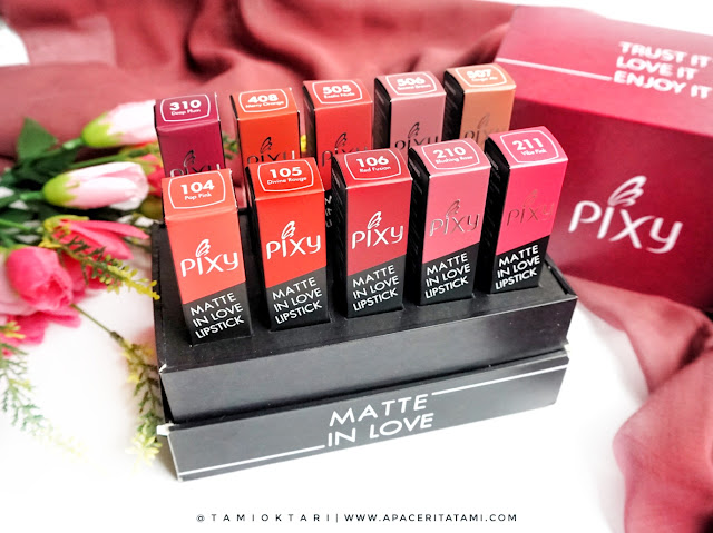 [REVIEW & SWATCHES] PIXY MATTE IN LOVE LIPSTICK (ALL SHADES)