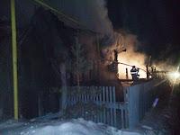 (ФОТО)В результате пожара произошедшего 8 февраля в селе Курьи погибла 78-летняя хозяйка дома