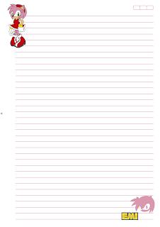Folha Papel Pautado universitario Emi PDF para imprimir A4