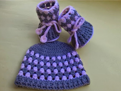 BOOTIES AND HAT PATTERN: