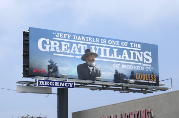 Jeff Daniels Great villains Godless Emmy FYC billboard