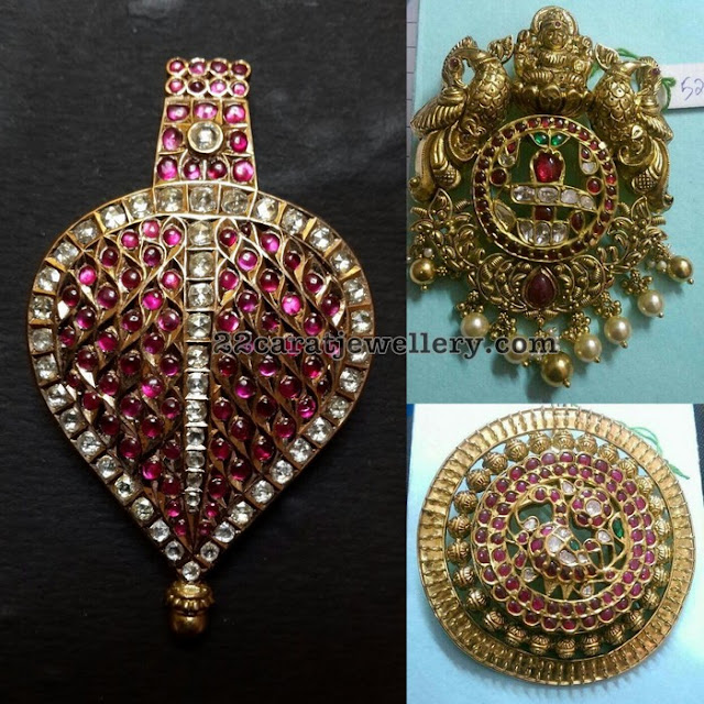 Antique and Kundan Ethnic Pendants