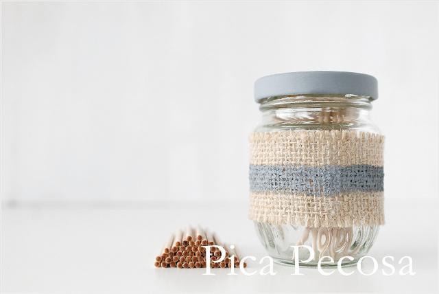 tarro-cristal-reciclado-palillero-chalk-paint-arpillera