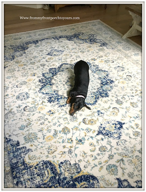 master bedroom makeover-placement of rug-from my front porch to yours