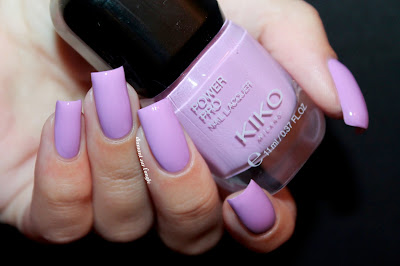 "Swatch of the nail polish ""17 - Lilac"" from Kiko Power Pro"