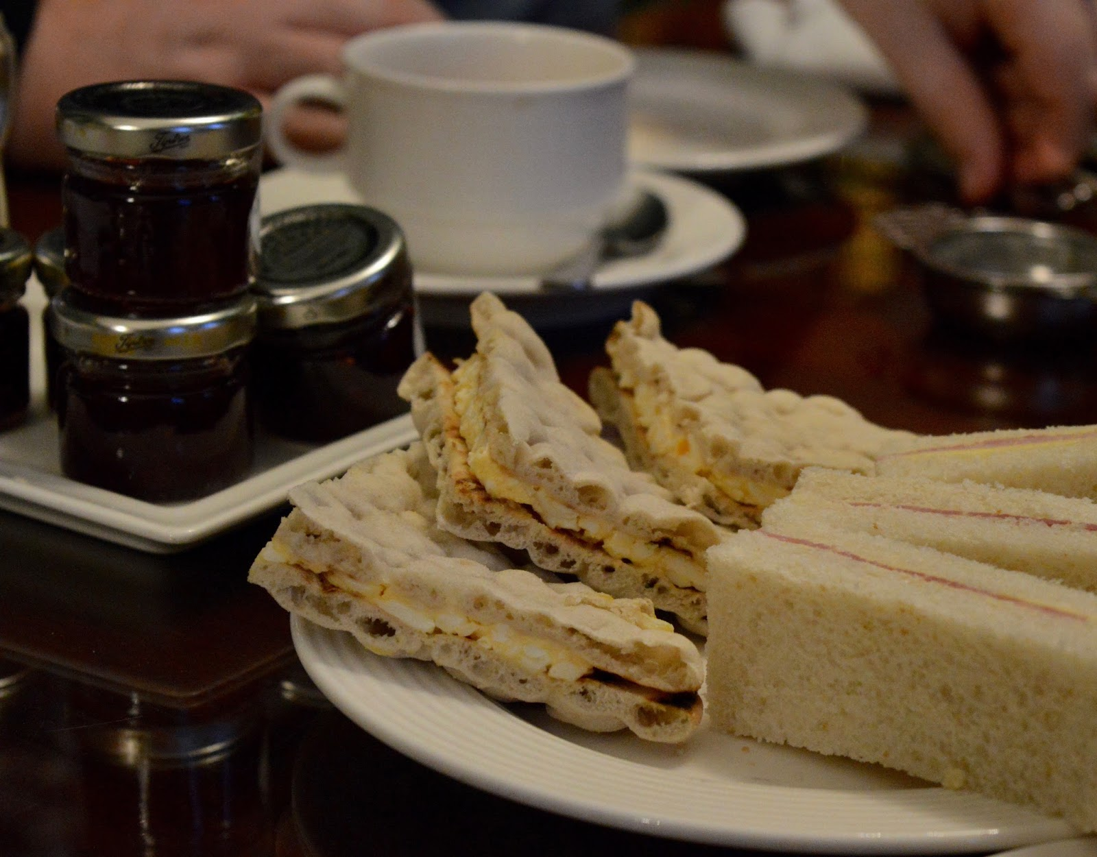 Afternoon tea at Wynyard Hall (with kids) - A Review - sandwiches