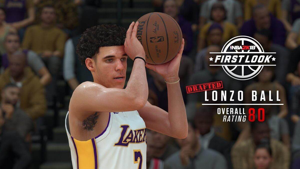 NBA 2K18 First Look at Lonzo's unique jumper