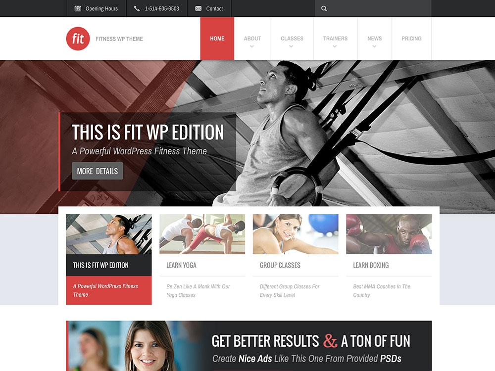 Fit – Fitness & Gym WordPress Theme