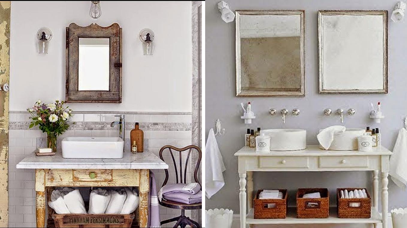 Baños De Estilo Antiguo:Como muebles de entrada para una casa de campo o a la queremos dar un