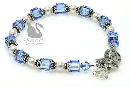 Paw Stamped Ribbon Spay Neuter Awareness Bracelet (B171)