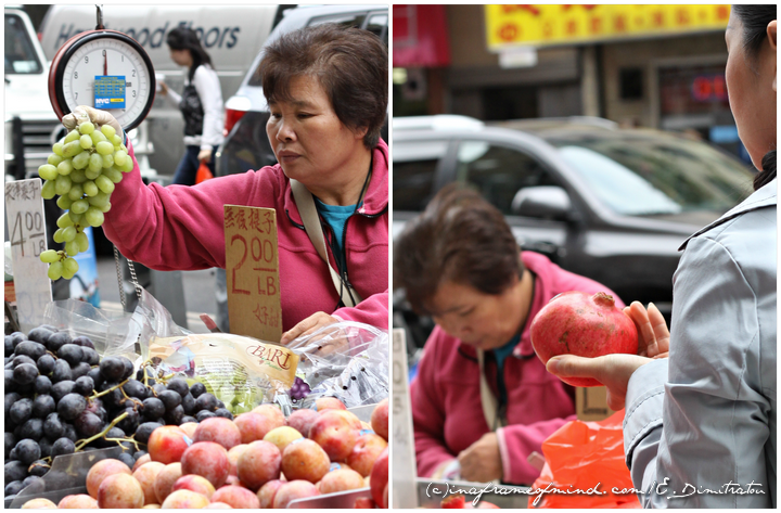 fruit vendor on Broome Street NYC