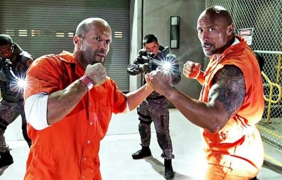 """Statham e Johnson se encaram na primeira imagem de """"Hobbs & Shaw"""""""