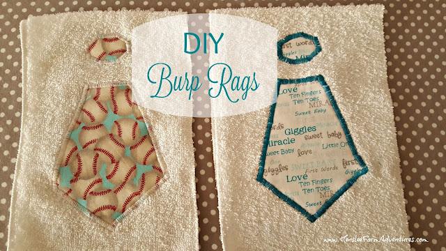 DIY Burp Rags  www.HensleeFarmAdventures.com