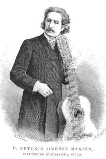 Retrato de Antonio Jiménez Manjón publicado en 1888