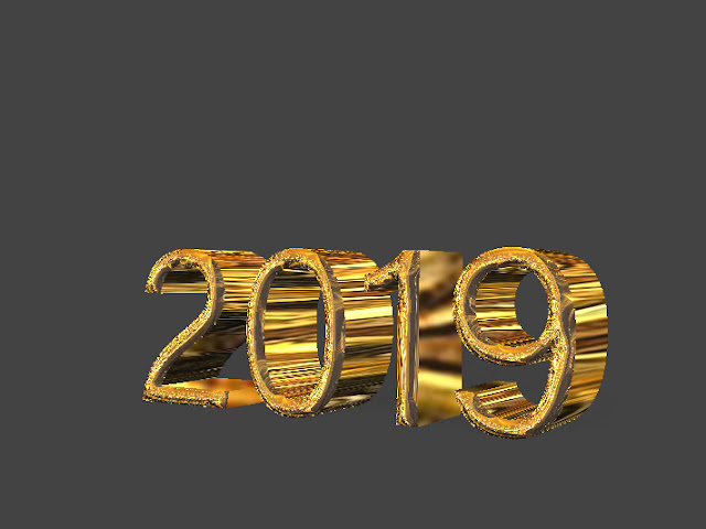 2019 3d rendering of happy new year