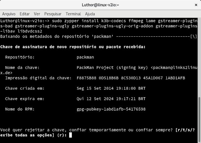 Linux: Porque o openSUSE não reproduz videos depois da instalação?