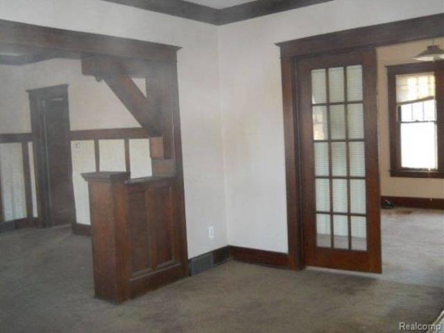 interior woodwork of Sears Hawthorne 16770  Rockdale St, Detroit, Michigan-demolished