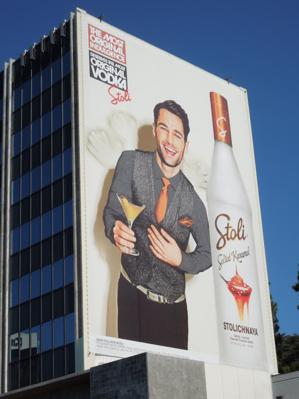 Giant Stoli Vodka Salted Karamel billboard