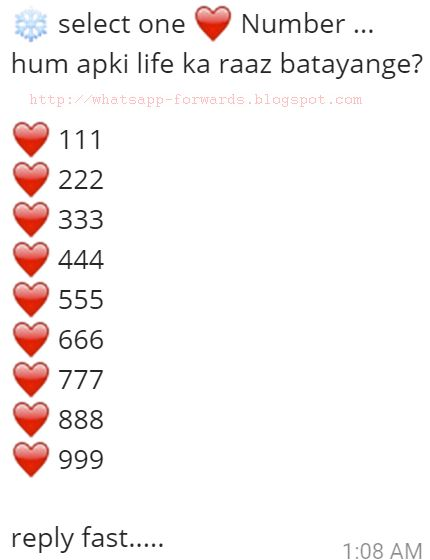 Select one number hum apki life ka raaz batayange