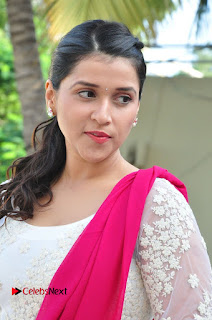 Actress Mannara Chopra Latest Pictures in White Salwar Kameez  0006