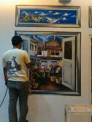 Lukisan Dinding Rumah 3d