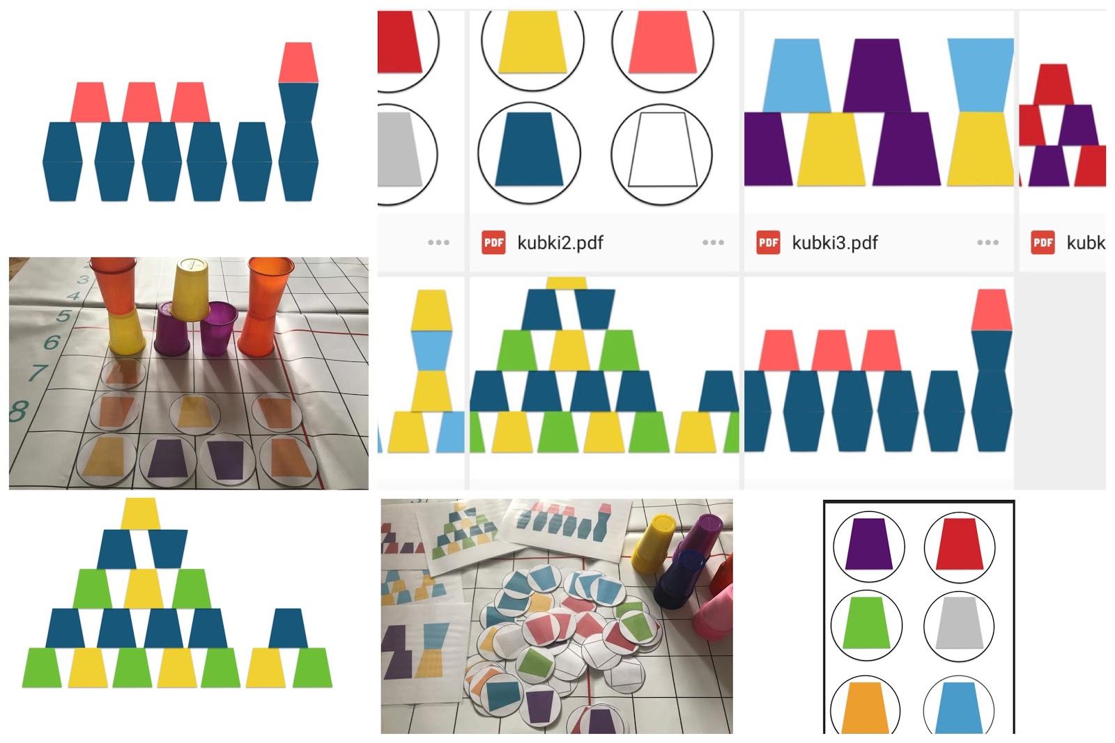 Kolorowa Wieża Zgodnie Z Kodem Ustawiona Kodowanie Na Dywanie