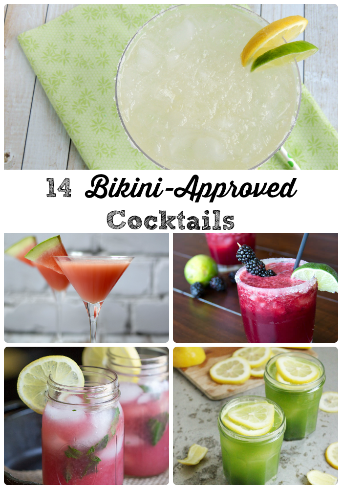 14 Bikini-Approved Cocktails- Get your drink on with less guilt with this collection of tasty low calorie cocktails