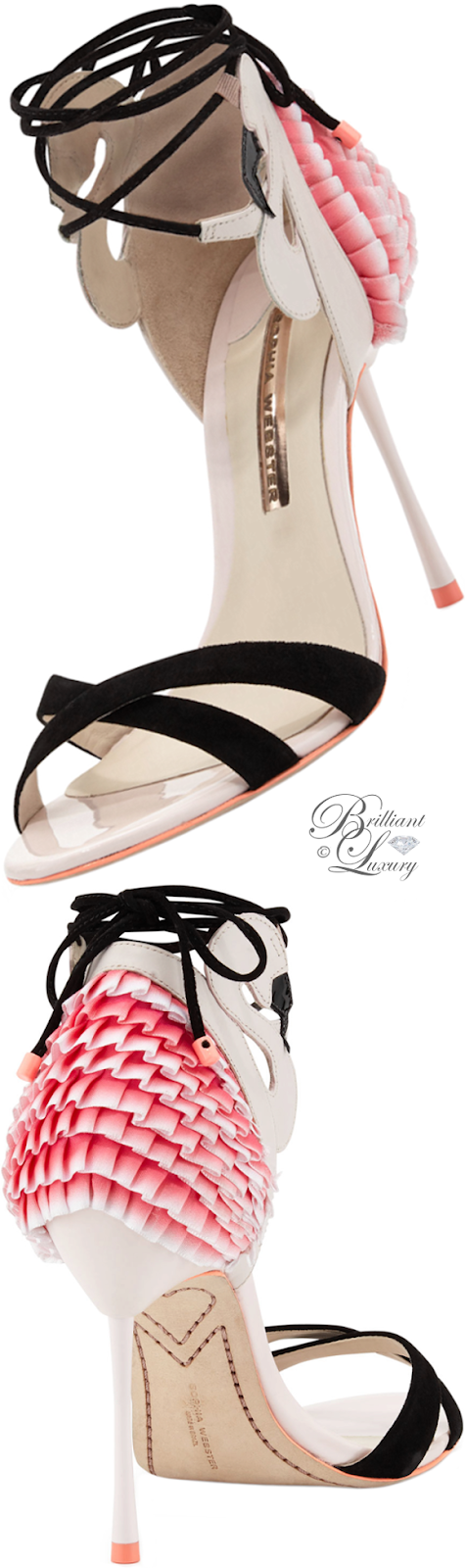 Brilliant Luxury ♦ Sophia Webster Flamingo frill ankle-wrap sandal