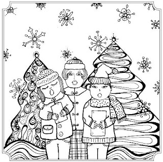 Italophile Book Reviews: A Very Blessed Christmas Coloring