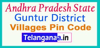 Guntur District Pin Codes in Andhra Pradesh State