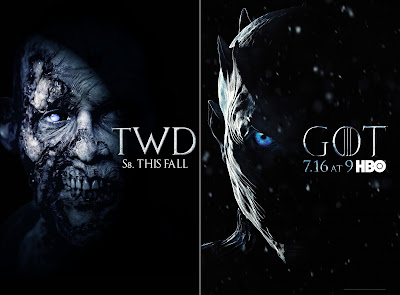 Guerra di poster: The Walking Dead vs Game of Thrones