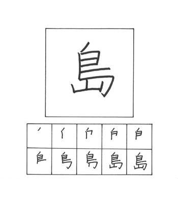 kanji pulau