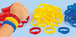photo of: Children's Wrist Bands for Quick ID on the Playground