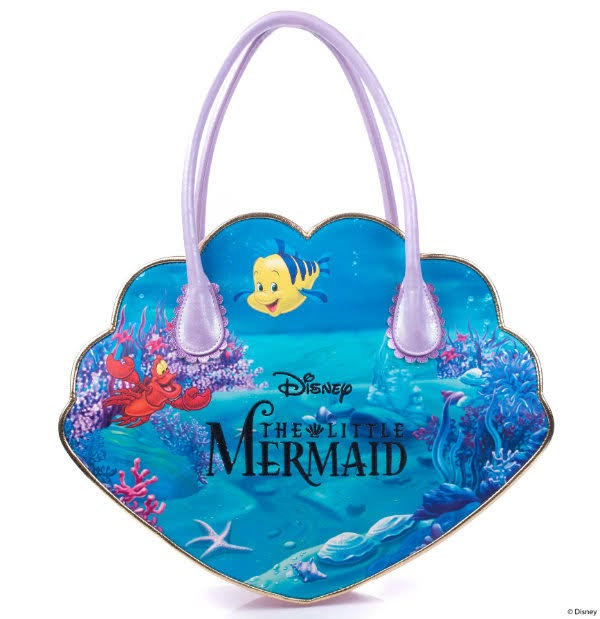 under the sea themed shell shaped handbag