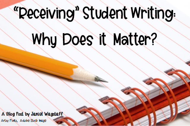 When a student walks up to you with a piece of writing, what is the first thing you think about?  How we receive students' writing affects everything in our writing classrooms.