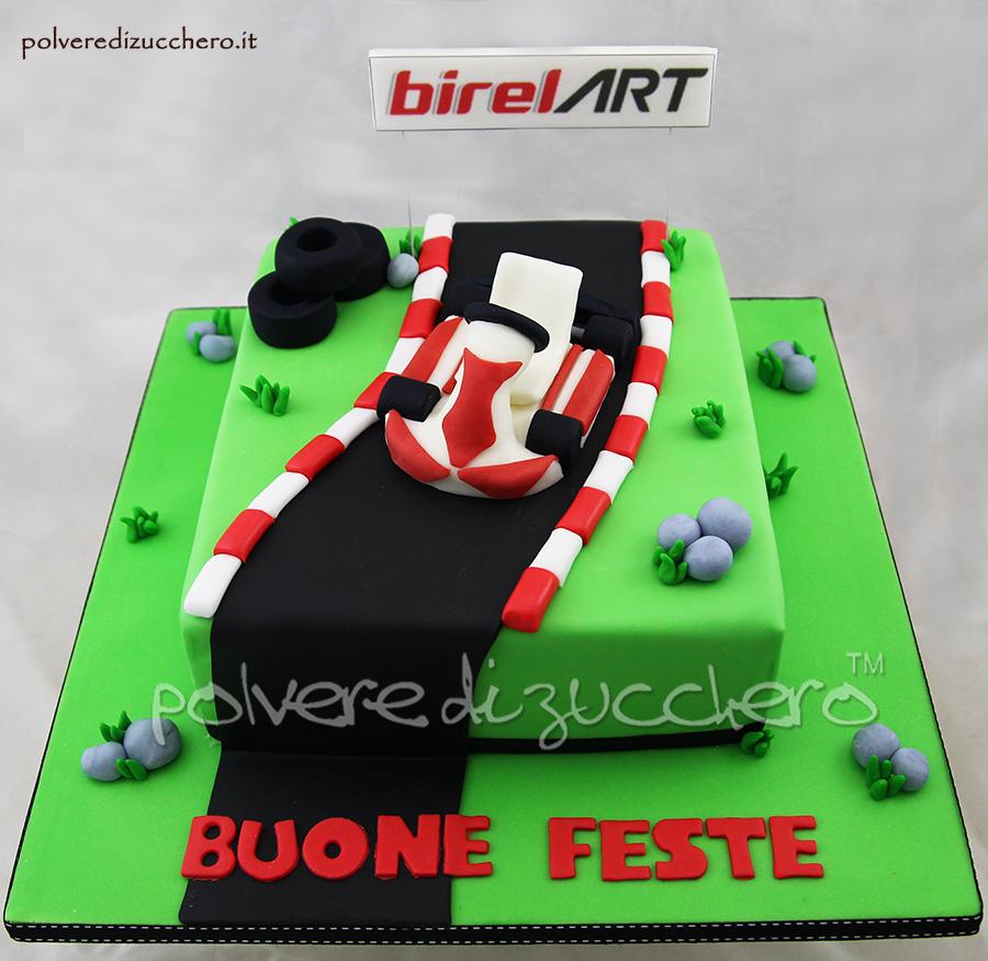 go kart pista kart pasta di zucchero cake design torta decorata feste natale evento aziendale polvere di zucchero