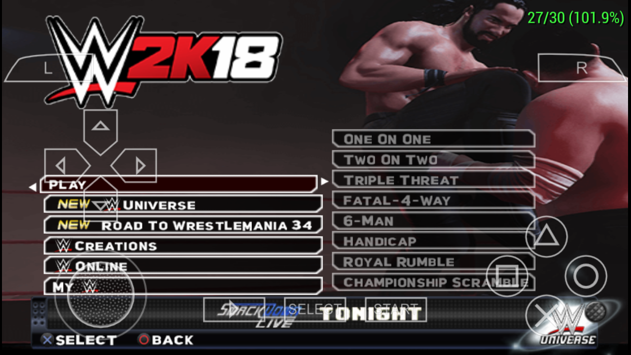 500mb)WWE 2k18 Mod for Android highly compressed!!