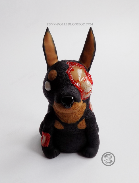 zombie dog sculpture